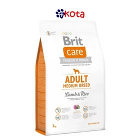 BRIT CARE MEDIUM BREED CORDERO Y ARROZ 12 KG.