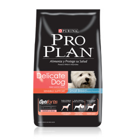 PURINA PRO PLAN ADULT DELICATE SMALL BREED CON OPTIFORTIS  3KG.
